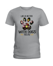 Dog Life Is Better - Hoodie And T-shirt Ladies T-Shirt thumbnail
