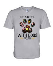 Dog Life Is Better - Hoodie And T-shirt V-Neck T-Shirt thumbnail