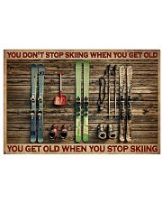 Skiing You Don't Stop Skiing 36x24 Poster front