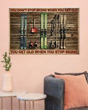Skiing You Don't Stop Skiing 36x24 Poster poster-landscape-36x24-lifestyle-18