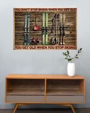 Skiing You Don't Stop Skiing 36x24 Poster poster-landscape-36x24-lifestyle-21