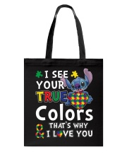 Autism I See Your True Colors Tote Bag thumbnail
