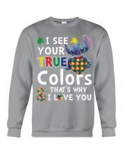 Autism I See Your True Colors Crewneck Sweatshirt thumbnail