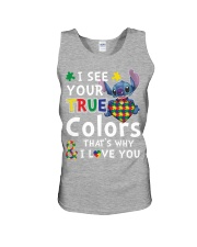 Autism I See Your True Colors Unisex Tank thumbnail