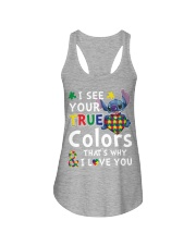 Autism I See Your True Colors Ladies Flowy Tank thumbnail