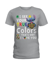 Autism I See Your True Colors Ladies T-Shirt thumbnail