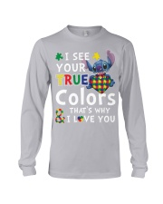 Autism I See Your True Colors Long Sleeve Tee thumbnail