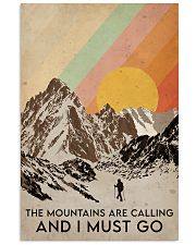 Hiking The Mountains Are Calling 16x24 Poster front