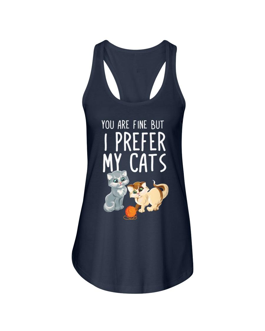 prefers my cats Ladies Flowy Tank