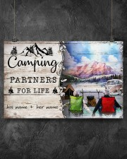 Camping Partners For Life 17x11 Poster aos-poster-landscape-17x11-lifestyle-12