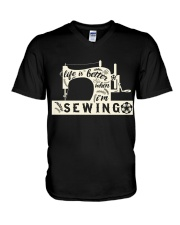 Life is better when i'm sewing V-Neck T-Shirt thumbnail