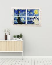 Cat Starry Night 36x24 Poster poster-landscape-36x24-lifestyle-01