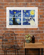 Cat Starry Night 36x24 Poster poster-landscape-36x24-lifestyle-20