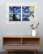 Cat Starry Night 36x24 Poster poster-landscape-36x24-lifestyle-21