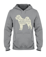 Life is better with shar-peis around Hooded Sweatshirt thumbnail