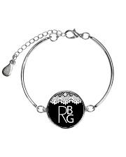 Feminist RBG Metallic Circle Bracelet tile