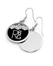 Feminist RBG Circle Earrings aos-earring-circle-front-lifestyle-10