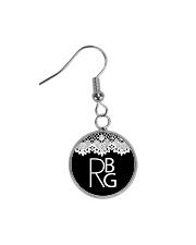 Feminist RBG Circle Earrings front