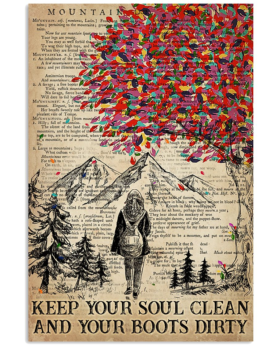 Hiking Keep Your Soul Clean 16x24 Poster