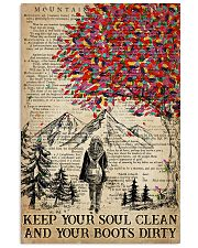 Hiking Keep Your Soul Clean 16x24 Poster front
