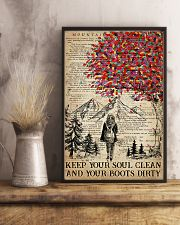 Hiking Keep Your Soul Clean 16x24 Poster lifestyle-poster-3