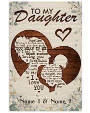 Family To My Daughter 16x24 Poster front