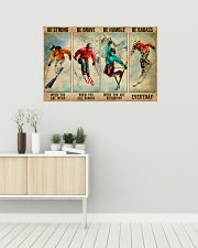 Skiing Be Strong Be Brave 36x24 Poster poster-landscape-36x24-lifestyle-01