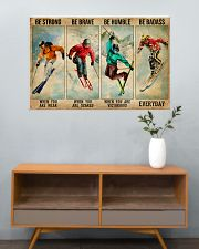 Skiing Be Strong Be Brave 36x24 Poster poster-landscape-36x24-lifestyle-21
