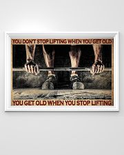 Fitness You Don't Stop Lifting 36x24 Poster poster-landscape-36x24-lifestyle-02