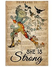 Running She Is Strong 16x24 Poster front