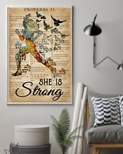 Running She Is Strong 16x24 Poster lifestyle-poster-1