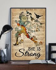 Running She Is Strong 16x24 Poster lifestyle-poster-2