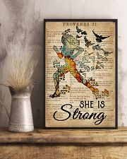 Running She Is Strong 16x24 Poster lifestyle-poster-3