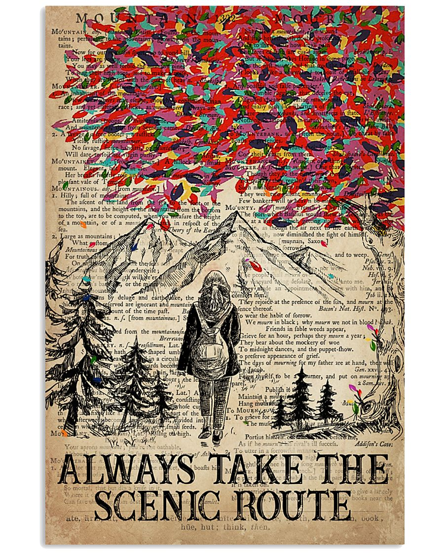 Hiking Always Take The Scenic Route 16x24 Poster