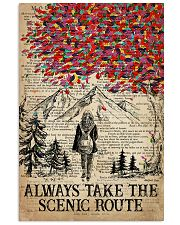 Hiking Always Take The Scenic Route 16x24 Poster front