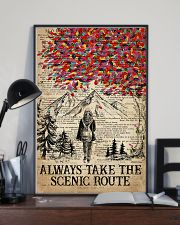 Hiking Always Take The Scenic Route 16x24 Poster lifestyle-poster-2