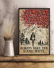 Hiking Always Take The Scenic Route 16x24 Poster lifestyle-poster-3