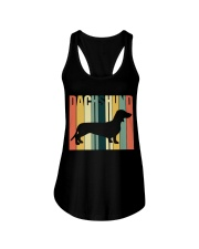 Dachshund Ladies Flowy Tank tile