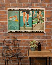Triathlon It's Not A Phase It's My Life 36x24 Poster poster-landscape-36x24-lifestyle-20