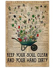 Garden Keep Your Soul Clean 16x24 Poster front