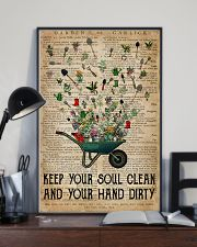 Garden Keep Your Soul Clean 16x24 Poster lifestyle-poster-2