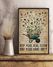 Garden Keep Your Soul Clean 16x24 Poster lifestyle-poster-3