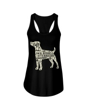 Life is better with jack russell terriers around Ladies Flowy Tank front