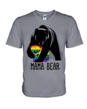 LGBT Mama Bear - Hoodie And T-shirt V-Neck T-Shirt tile