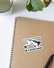 Horse Be A Boss Mare Sticker - Single (Vertical) aos-sticker-single-vertical-lifestyle-front-16