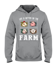 Life is better on the farm Hooded Sweatshirt thumbnail