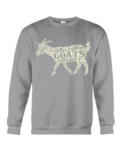 Life is better with goats around Crewneck Sweatshirt thumbnail