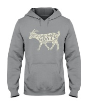 Life is better with goats around Hooded Sweatshirt thumbnail