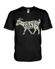 Life is better with goats around V-Neck T-Shirt thumbnail