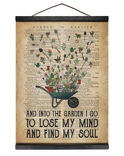Garden Find My Soul Canvas